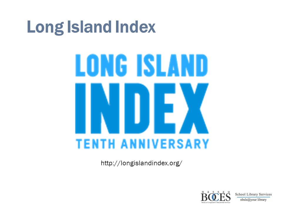 Long Island Index http://longislandindex.org/