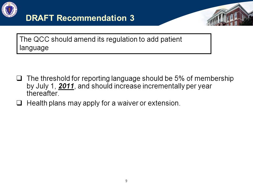 10 DRAFT Recommendation 4 Health plans should report using DHCFP categories, but should collect Race and Hispanic Ethnicity identifiers using the following categories: TABLE 1: Race - this is what the MEMBER sees and chooses from Instructions: choose all that apply American Indian / Alaska Native Asian Black Hispanic / Latino / Black Hispanic / Latino / White Hispanic / Latino / Other Native Hawaiian or Other Pacific Islander White Other Race Declined