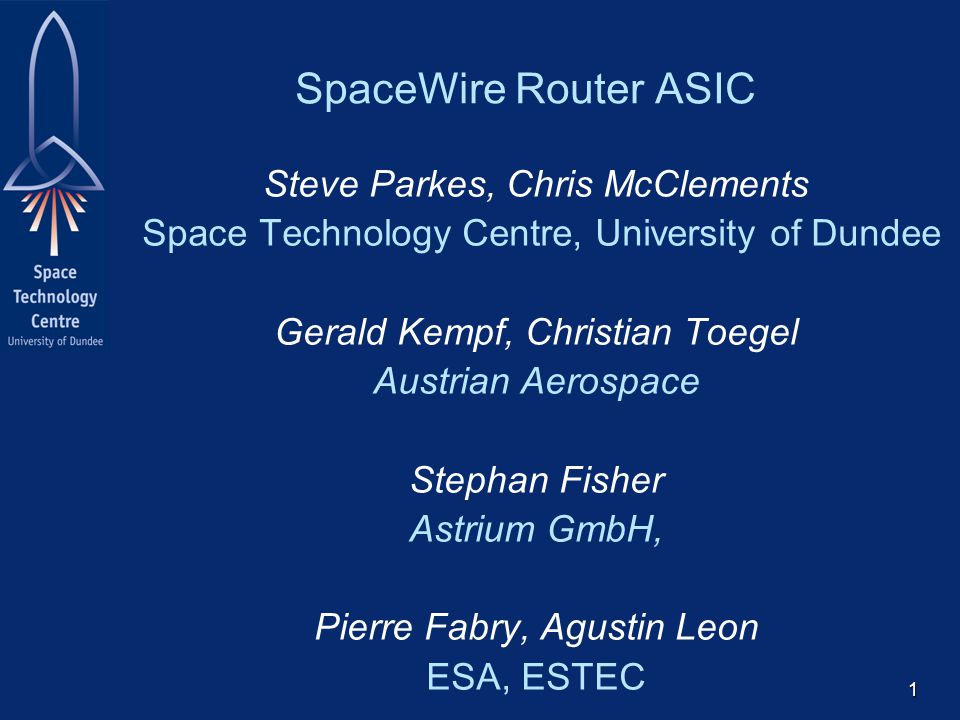 22 ESA SpaceWire Router Performance