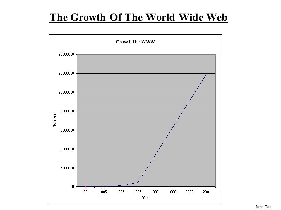 James Tam The Growth Of The World Wide Web