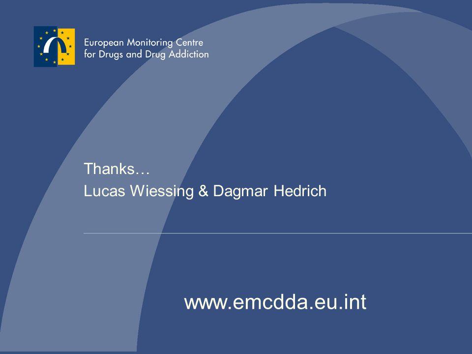 Thanks… Lucas Wiessing & Dagmar Hedrich www.emcdda.eu.int