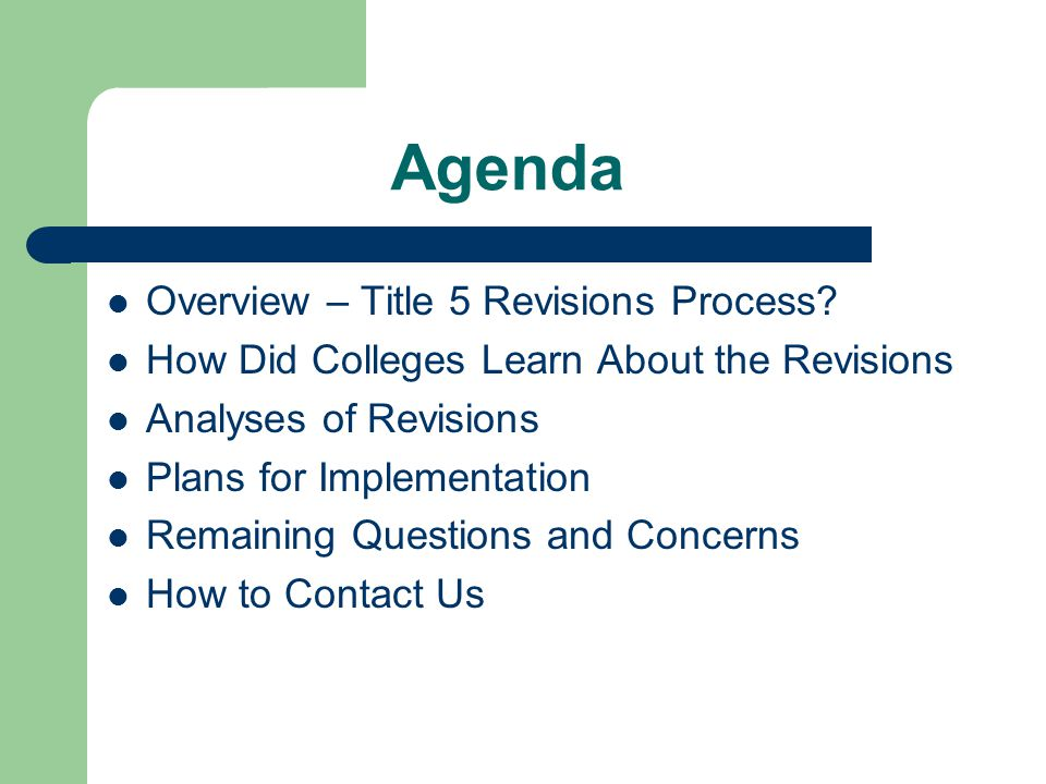 Overview of Process ● Grew Out of Academic Senate Concerns ● Lack of Student Services Involvement Early ● Need for Alerts to Appropriate College Staff ● CACCRAO Annual Conference ● Statewide Workshops ● CACCRAO Summer Board Meeting