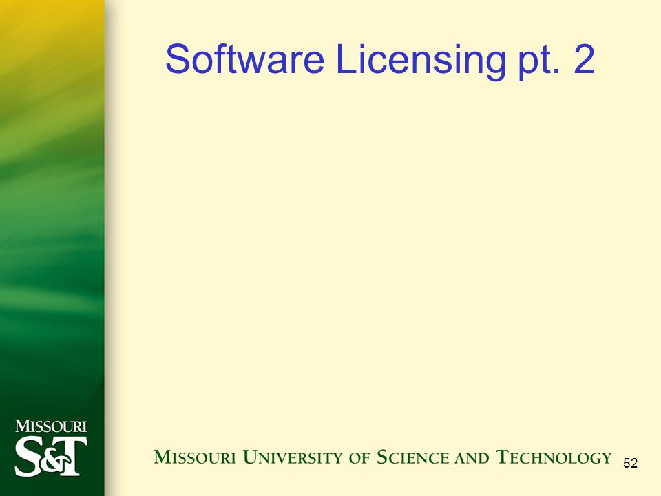 52 Software Licensing pt. 2