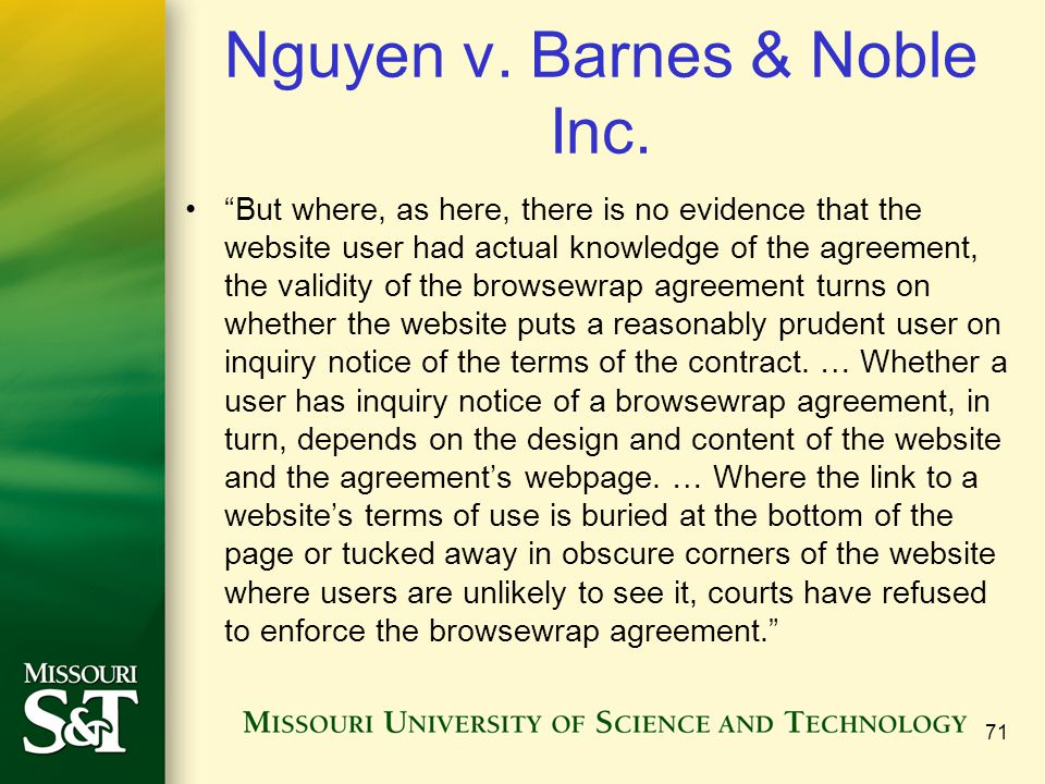Nguyen v. Barnes & Noble Inc.