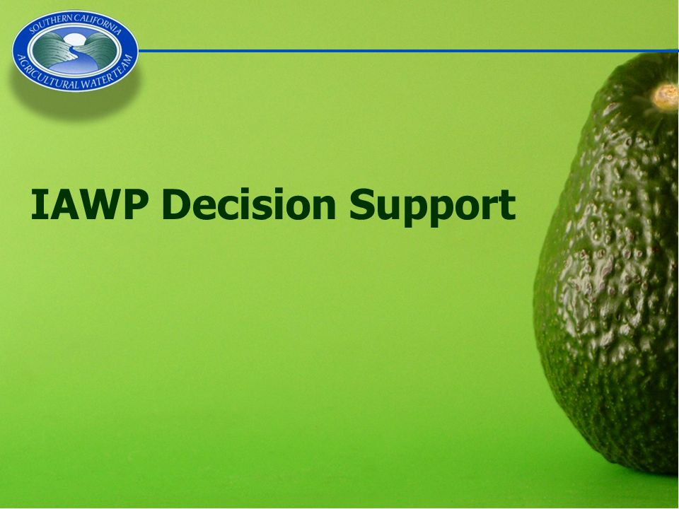 IAWP Decision Support