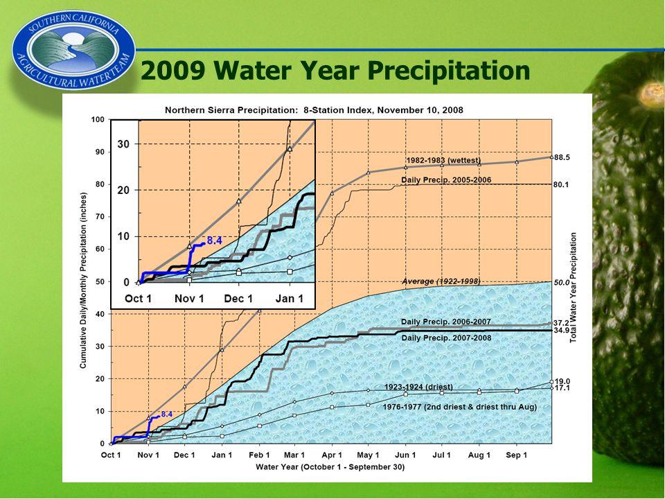 2009 Water Year Precipitation