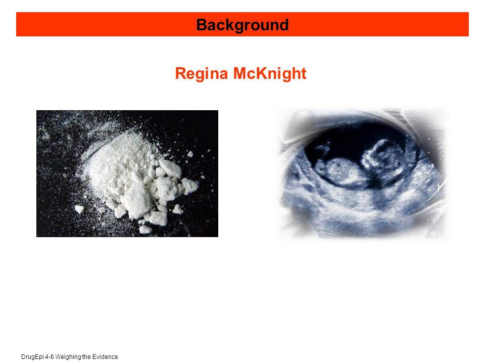 DrugEpi 4-6 Weighing the Evidence Regina McKnight Background