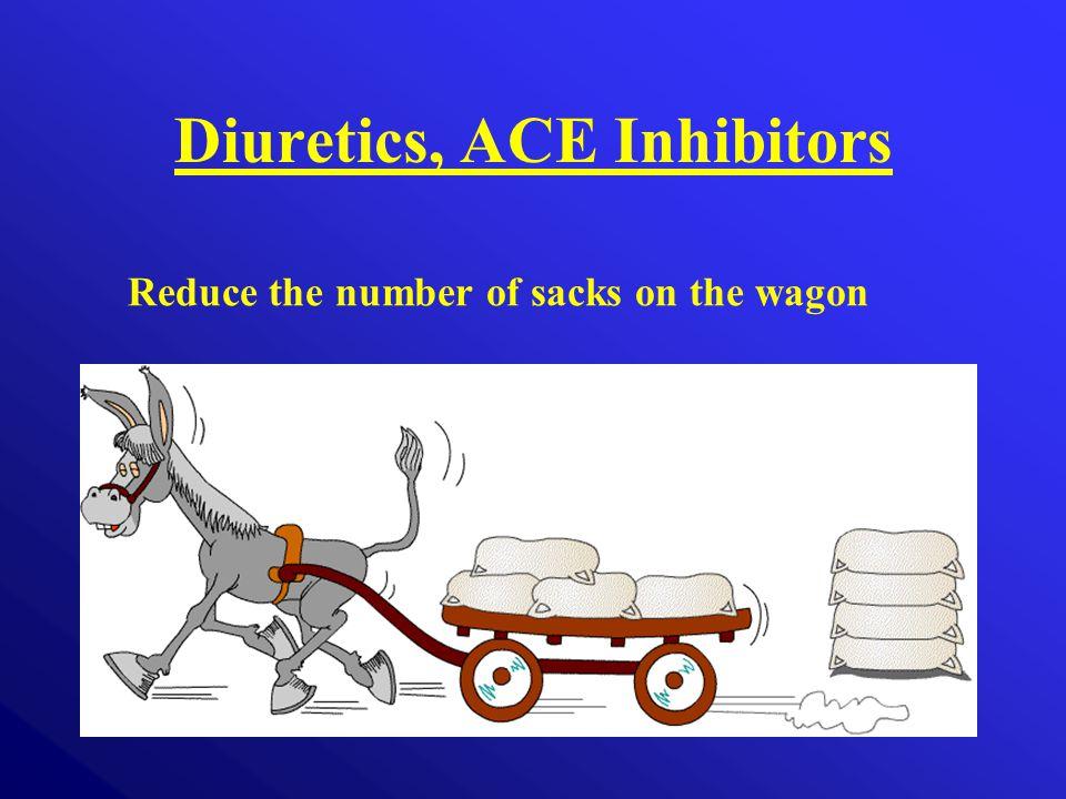 Diuretics, ACE Inhibitors Reduce the number of sacks on the wagon