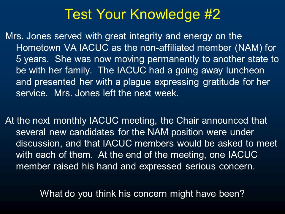 Test Your Knowledge #2 Mrs.