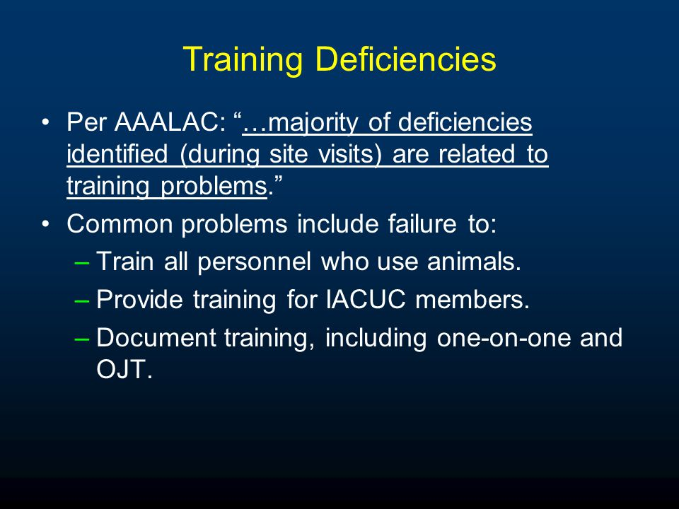 Oversight of Procedures in Investigator Labs Intense emphasis by AAALAC.