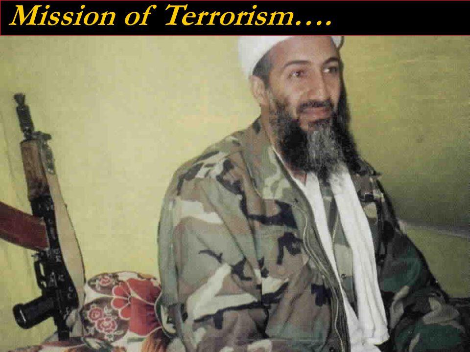 V 2.9 04/07 4 Mission of Terrorism….