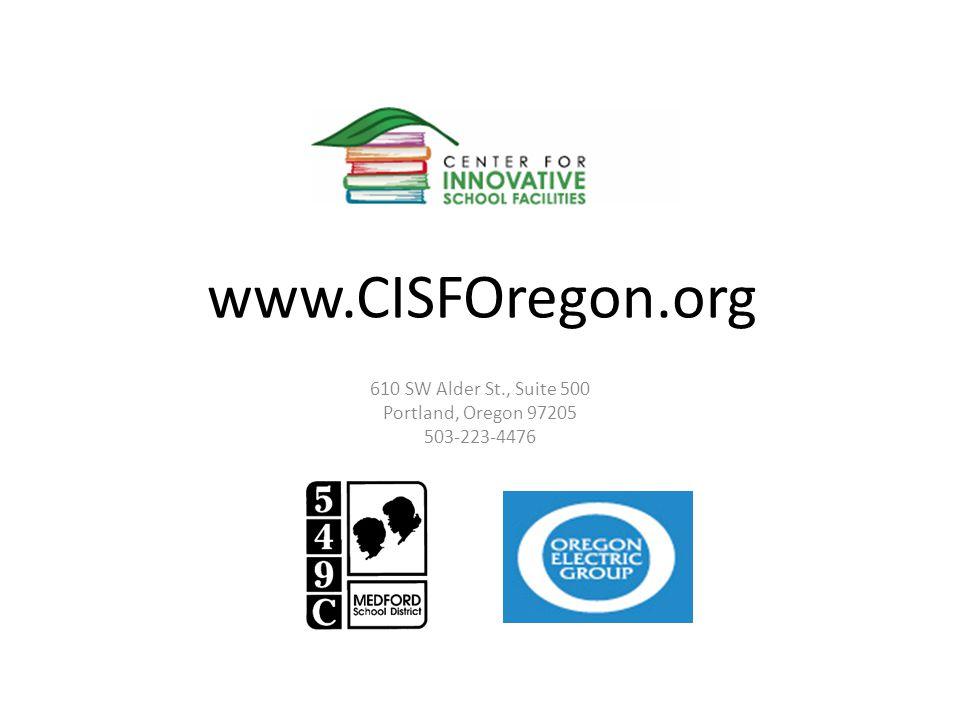 www.CISFOregon.org 610 SW Alder St., Suite 500 Portland, Oregon 97205 503-223-4476