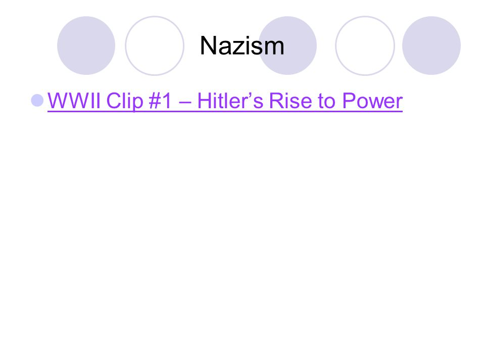 Nazism WWII Clip #1 – Hitler's Rise to Power