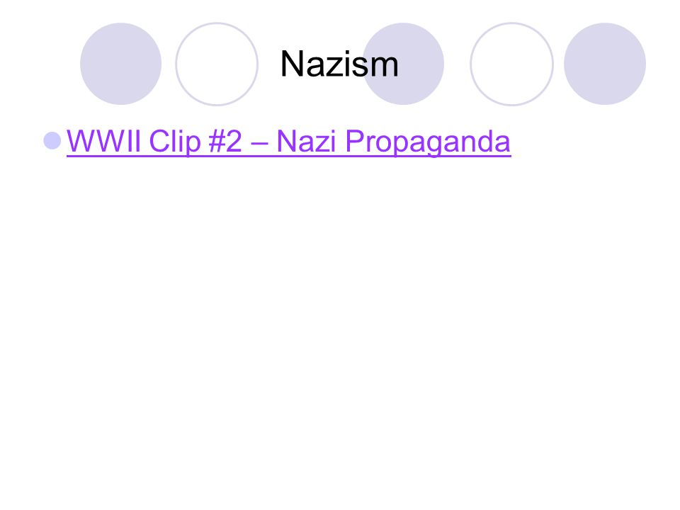 Nazism WWII Clip #2 – Nazi Propaganda