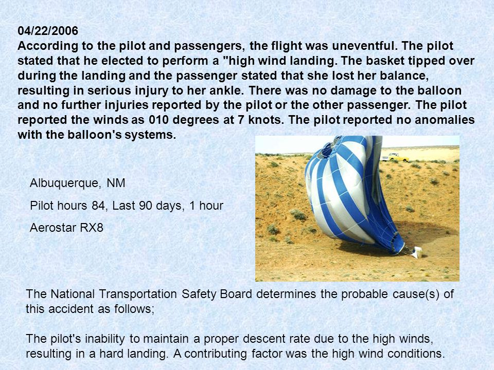 04/22/2006 According to the pilot and passengers, the flight was uneventful.