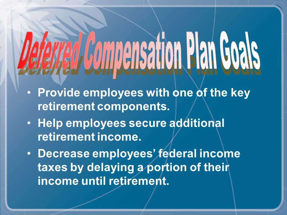 You can roll a full or partial amount You may roll any accrued leave payments into the Deferred Compensation Plan before you enter DROP After terminating DROP, you can roll your DROP Assets into the Deferred Compensation Plan
