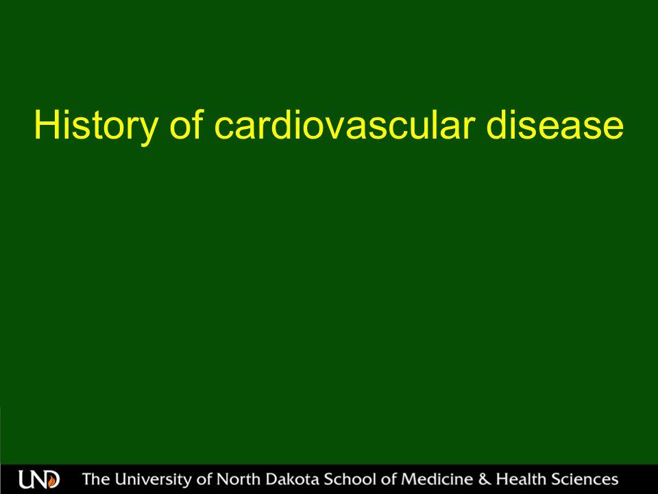History of cardiovascular disease
