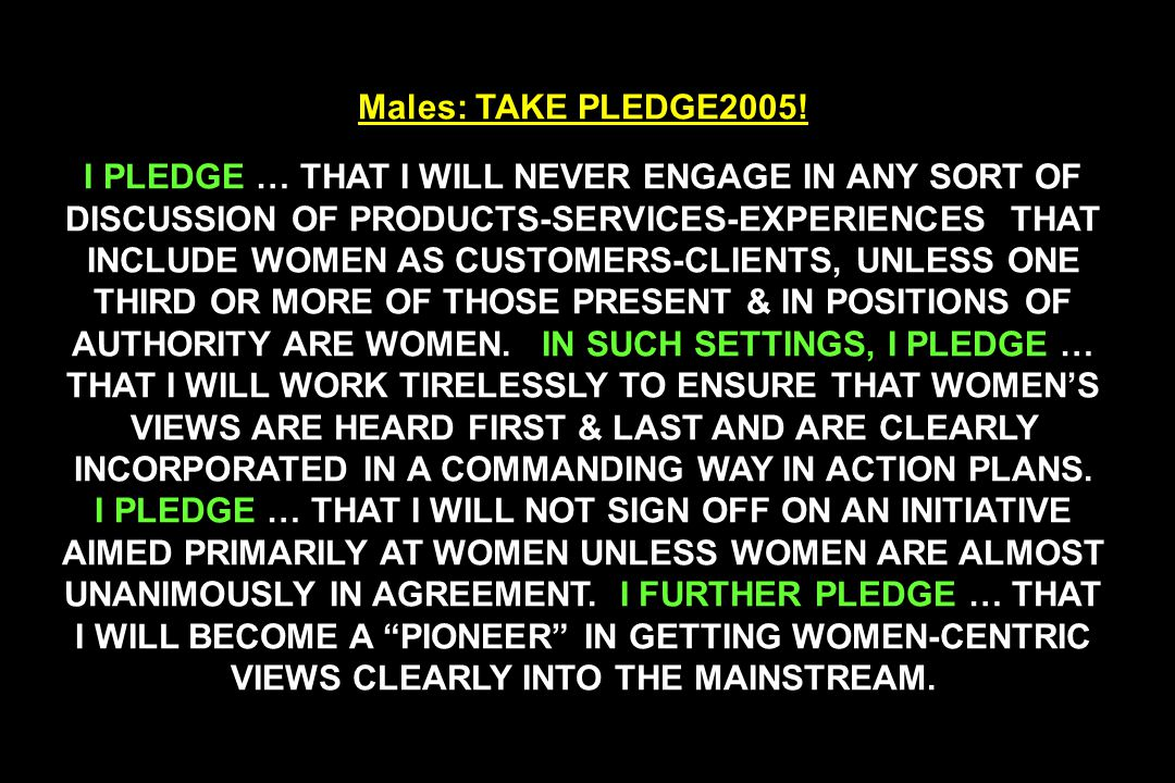 Males: TAKE PLEDGE2005.