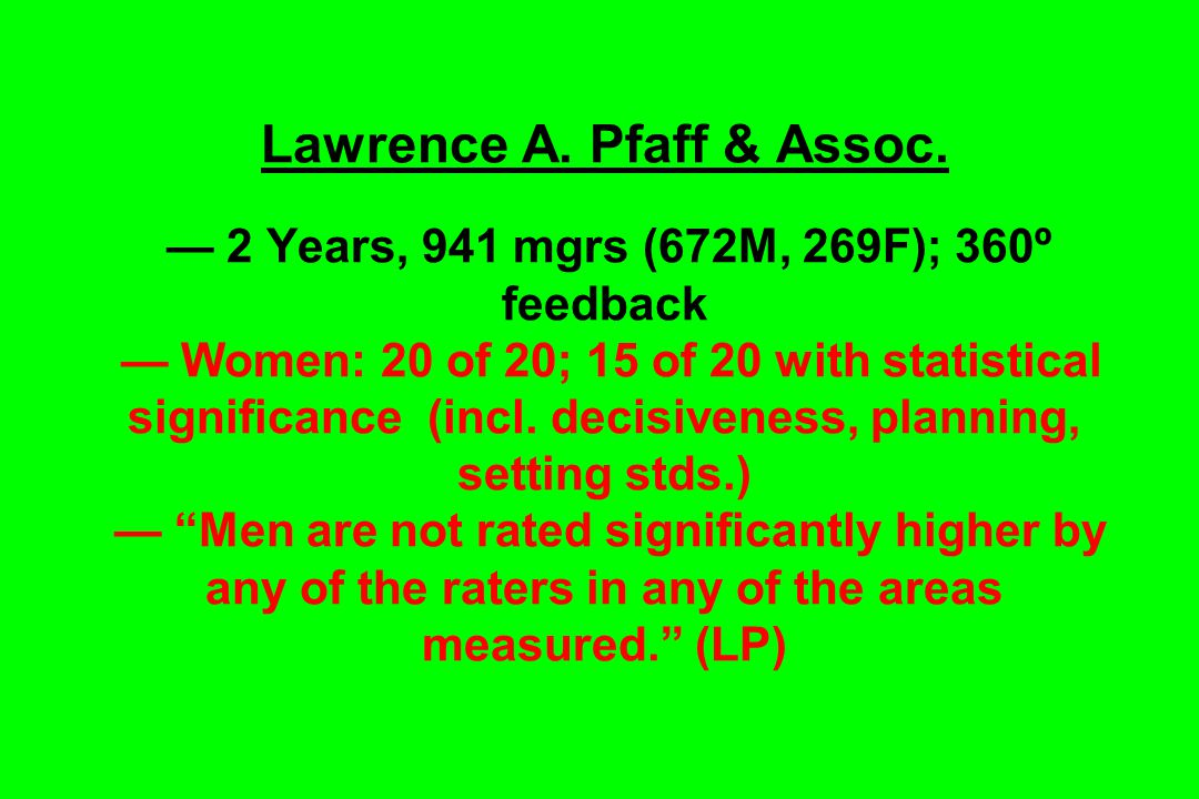 Lawrence A.Pfaff & Assoc.