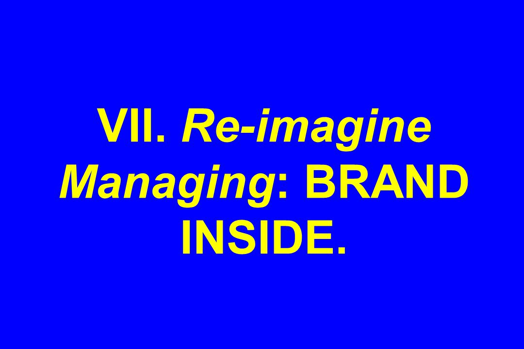 VII. Re-imagine Managing: BRAND INSIDE.