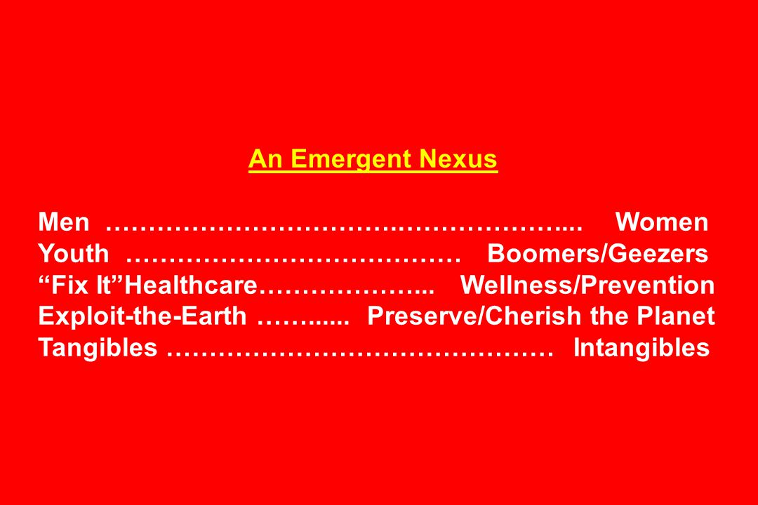 An Emergent Nexus Men …………………………….………………....