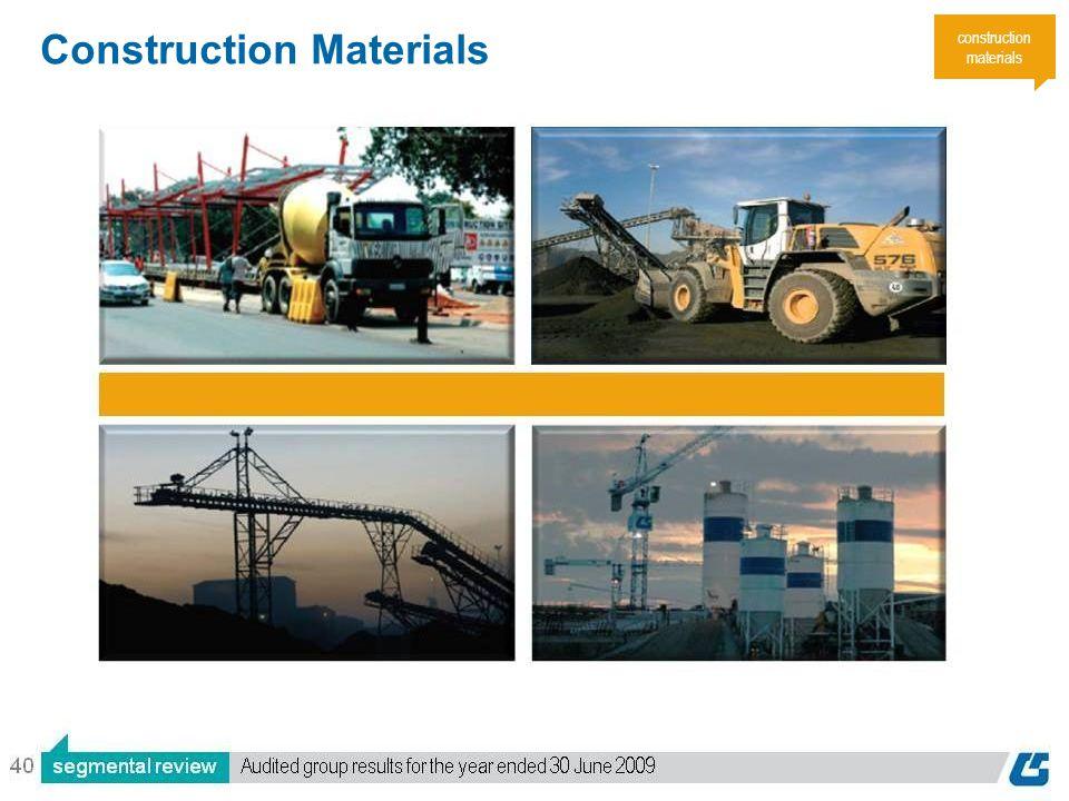 40 Construction Materials construction materials