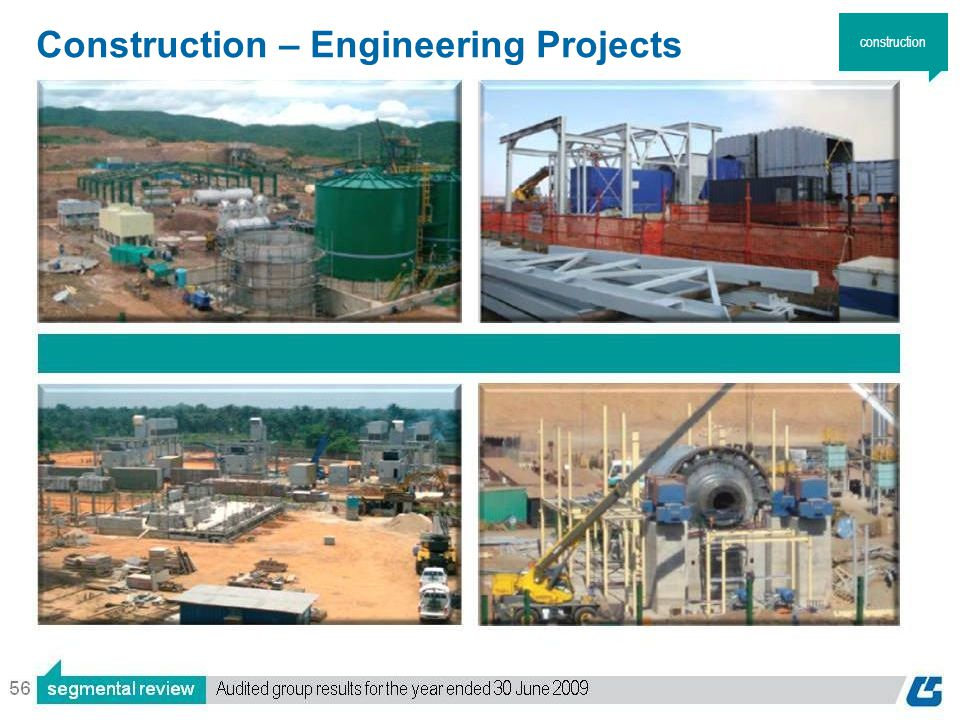 56 Construction – Engineering Projects construction