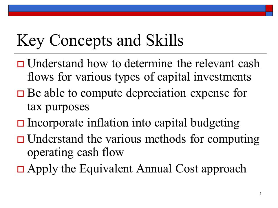 2 Chapter Outline 8.1 Incremental Cash Flows 8.2 The Baldwin Company: An Example 8.3 Inflation and Capital Budgeting 8.4 Alternative Definitions of Cash Flow 8.5 Investments of Unequal Lives: The Equivalent Annual Cost Method
