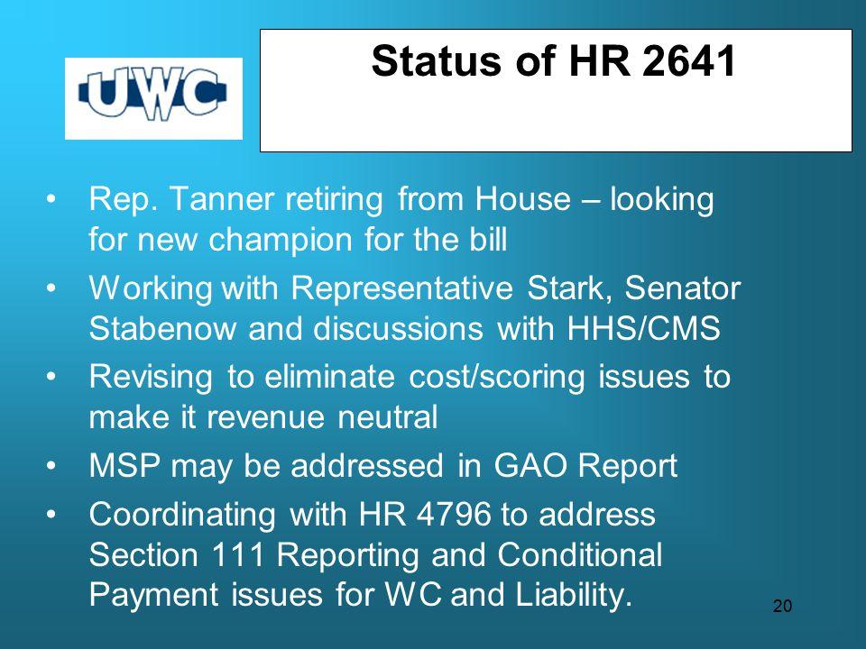 Status of HR 2641 Rep.