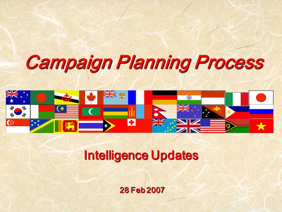 Campaign Planning Process 28 Feb 2007 Intelligence Updates