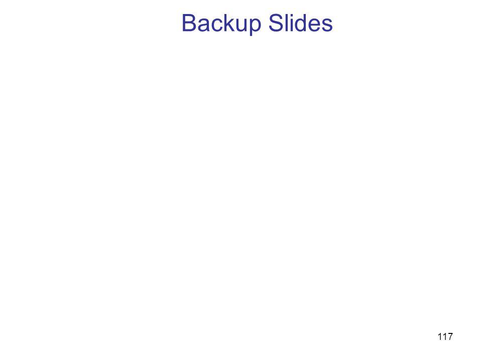 117 Backup Slides