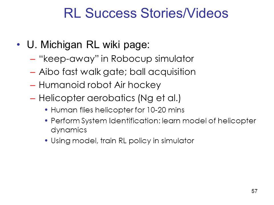 57 RL Success Stories/Videos U.