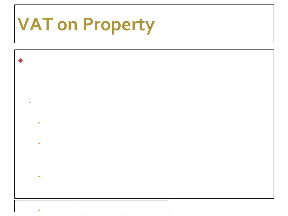 16/09/10 VAT on Property  Everything is taxable unless specifically exempt  Is the property exempt.