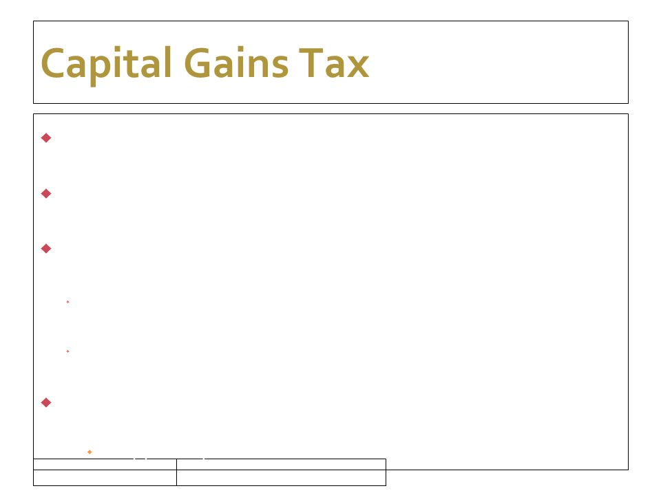 16/09/10 Capital Gains Tax  What is a disposal  Section 613 Exemptions  Interaction with CAT  Assets passing on death  Valuation date  Credit relief  Happening of same event  Anti-Avoidance – 2 yr retention  Foreign Disposals