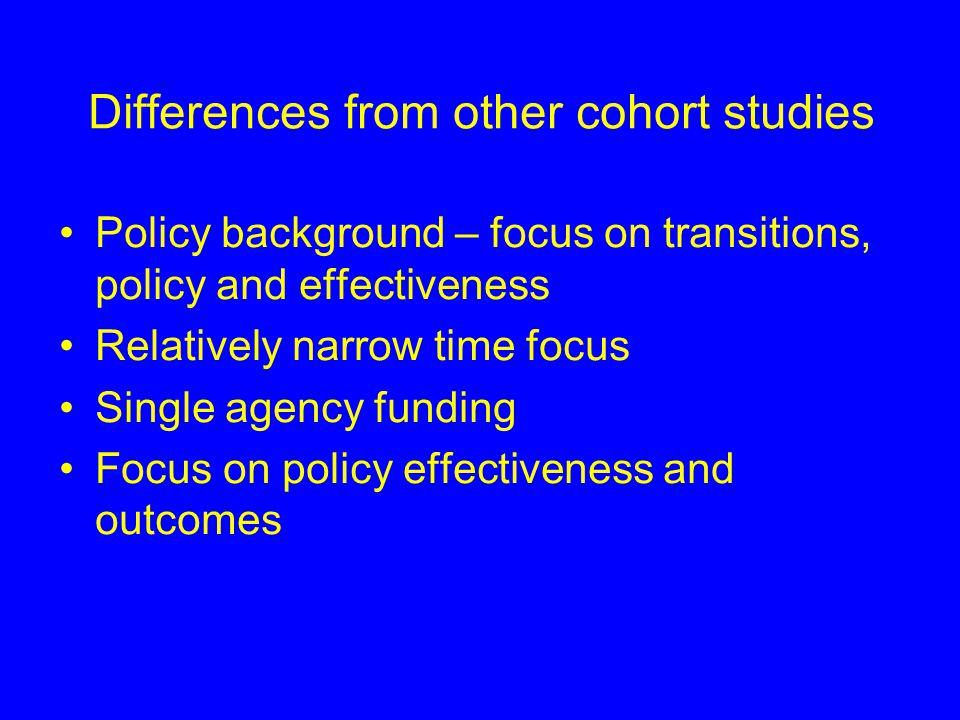Longitudinal studies in DfES Department makes extensive use of longitudinal methods Used in e.g.