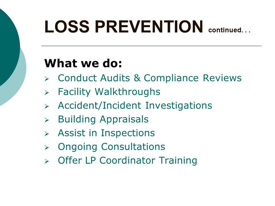 COMPONENTS  Responsibilities  Specific Inventory  Preventive Maintenance Procedures  Preventive Maintenance Schedule