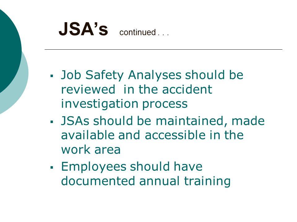 JSA's continued...