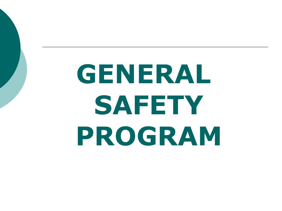 EMERGENCY PREPAREDNESS PROGRAM Written plan should address:  Fire (documented annual drills)  Natural Disasters  Proximity Threats  Terrorism  Violence in the Workplace