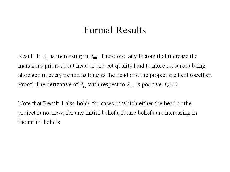 Formal Results