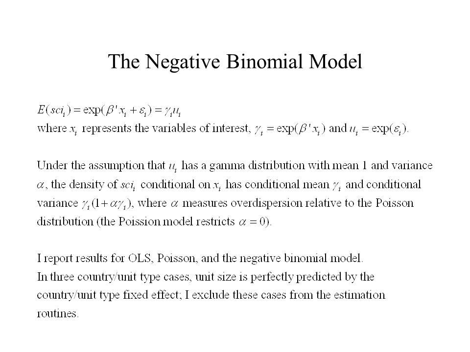 The Negative Binomial Model