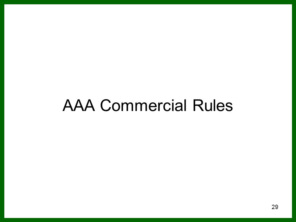 29 AAA Commercial Rules