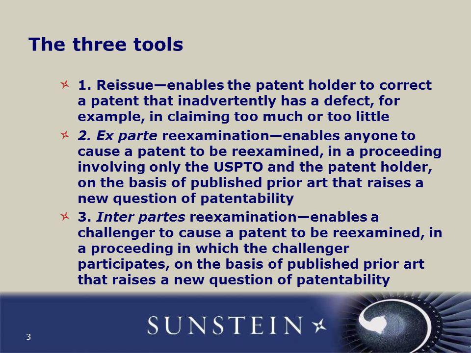 The three tools 1.