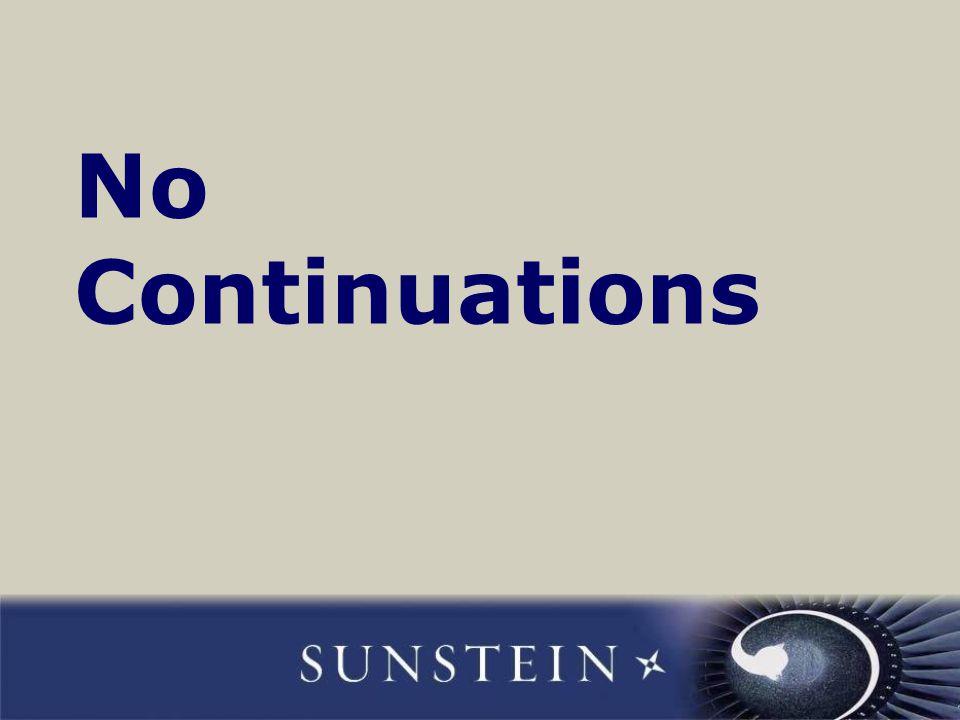 No Continuations