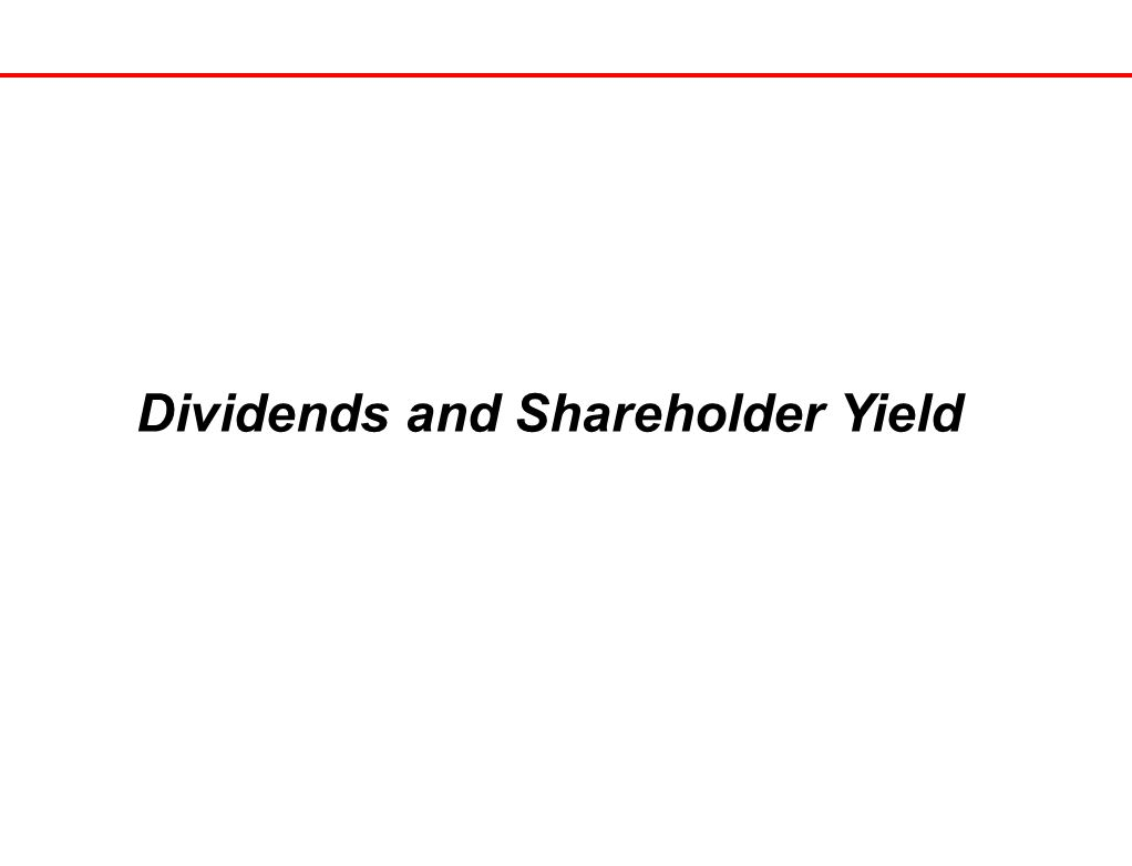21 Dividends and Shareholder Yield