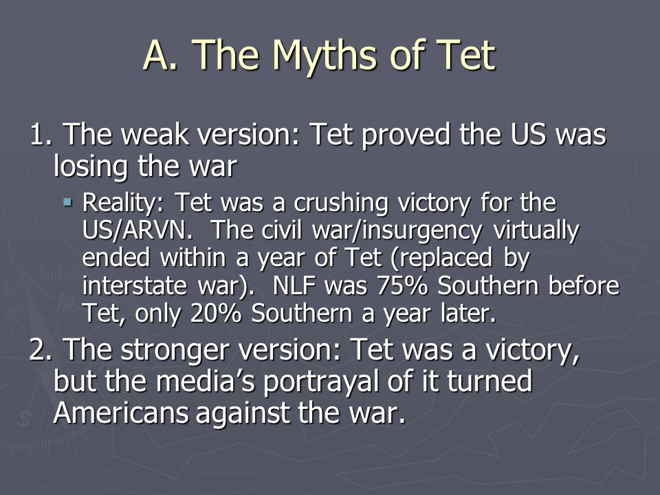 A. The Myths of Tet 1.