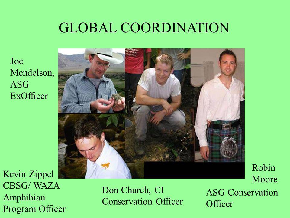 ASG Conservation Officer Kevin Zippel CBSG/ WAZA Amphibian Program Officer Don Church, CI Conservation Officer GLOBAL COORDINATION Joe Mendelson, ASG ExOfficer Robin Moore