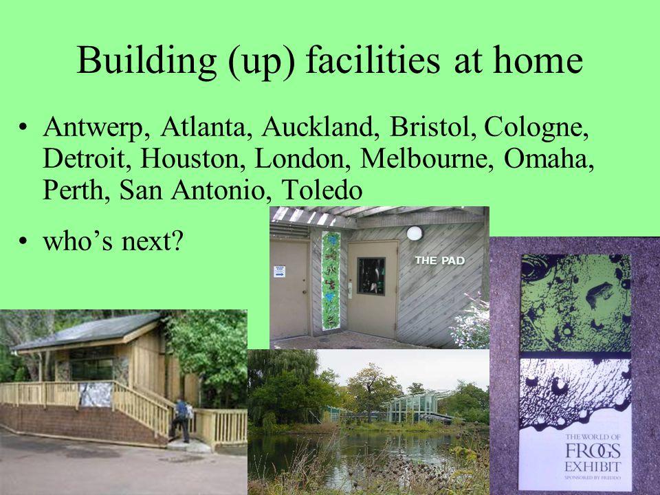Building (up) facilities at home Antwerp, Atlanta, Auckland, Bristol, Cologne, Detroit, Houston, London, Melbourne, Omaha, Perth, San Antonio, Toledo who's next