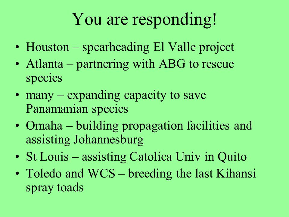 You are responding.