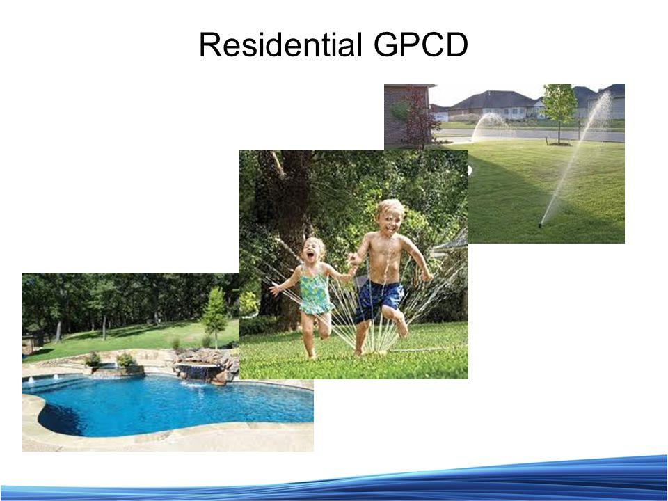 Residential GPCD