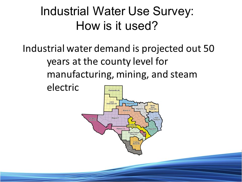 Industrial Water Use Survey: How is it used.